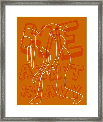 Not Heavy Framed Print by Michelle Calkins