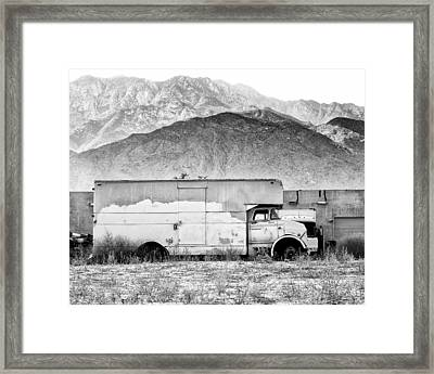 Not In Service Bw Palm Springs Framed Print