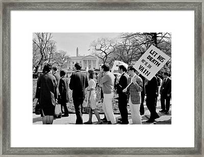 Not In Vain Framed Print by Benjamin Yeager