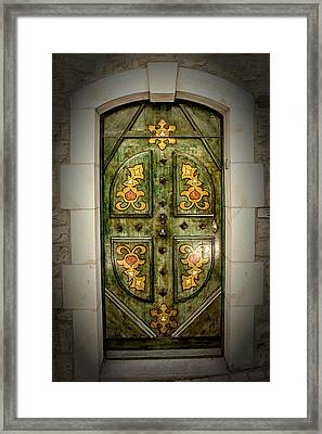 Not Just A Door Framed Print by Catherine Arnas