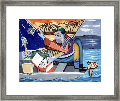 Not Just A Fish Story Framed Print by Anthony Falbo