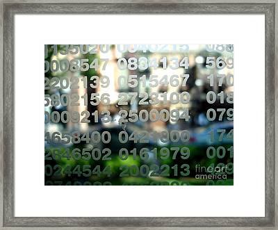 Not Just Numbers Framed Print
