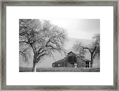 Not Much Time Left Bw Framed Print by Debby Pueschel