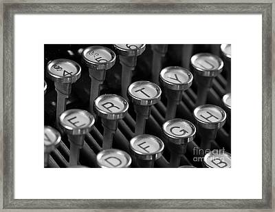 Not My Type Framed Print by Denise Pohl