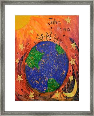 Not Of The World John 17 14-19 Framed Print by Anthony Falbo