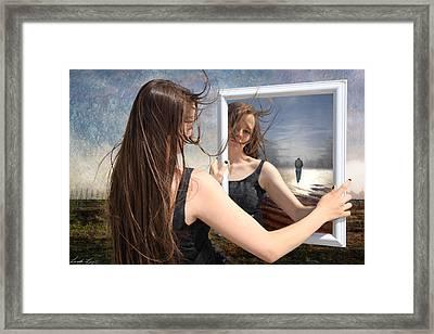Not Pretty Enough Framed Print by Linda Lees