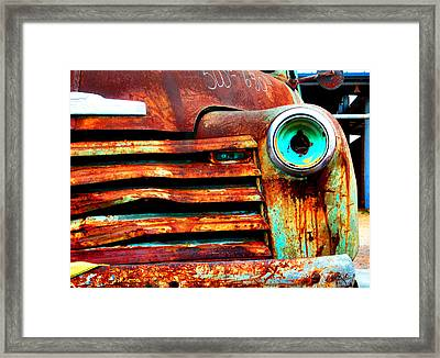 Not Quite Road Ready Framed Print by Toni Hopper