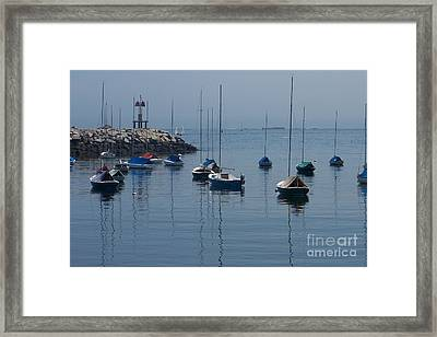 Framed Print featuring the photograph Sail Boats  by Eunice Miller