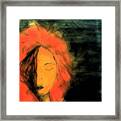 Not Seeing You Framed Print