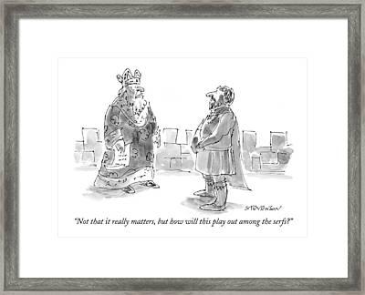 Not That It Really Matters Framed Print by James Stevenson