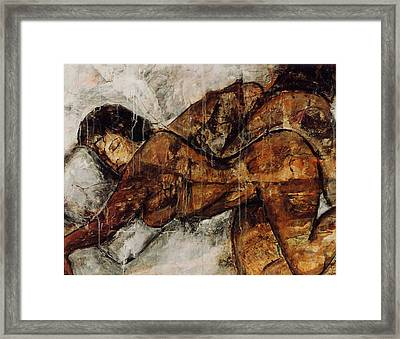 Framed Print featuring the painting Not Tonight I Have A Headache by Elaine Elliott