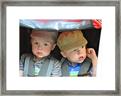 Framed Print featuring the photograph Not Too Sure About This by Barbara Dudley