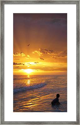 Not Yet - Sunset Art By Sharon Cummings Framed Print