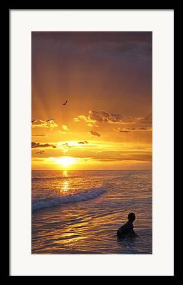 Children At Beach Framed Prints