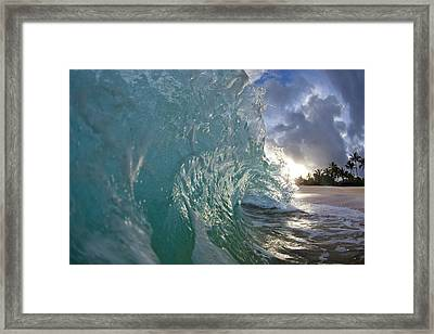 Coconut Curl Framed Print