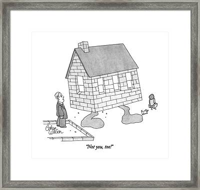 Not You, Too! Framed Print by Gahan Wilson