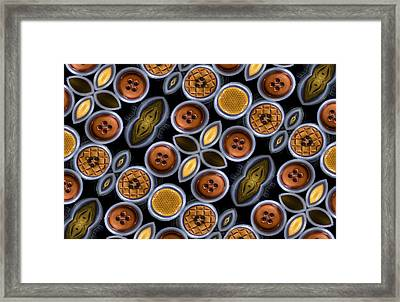 Not Your Mothers Button Box Framed Print by Jean Noren