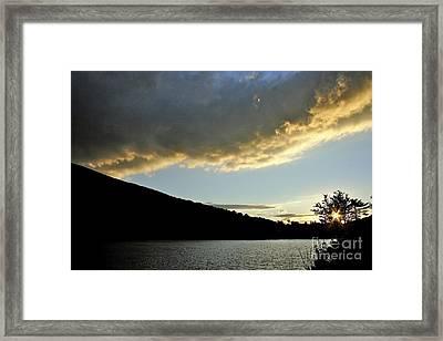 Notch Sunset Framed Print