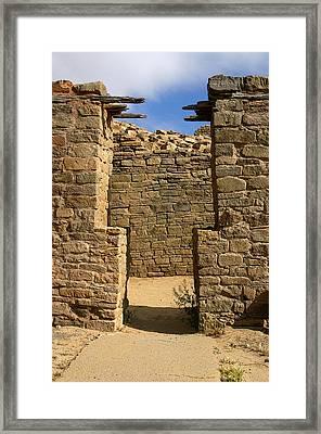 Notched Doorway Framed Print by Joe Kozlowski