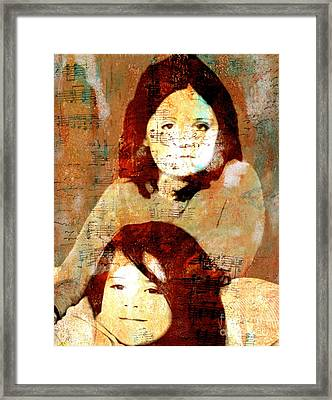Note To Granddaughters Framed Print by Nancy TeWinkel Lauren