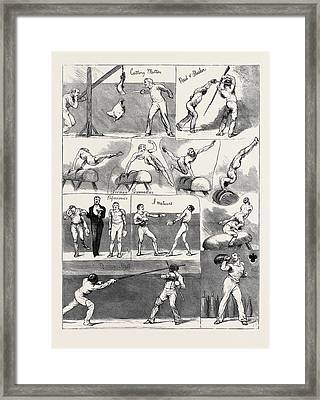 Notes At The Annual Assault Of Arms Of The London Athletic Framed Print by English School