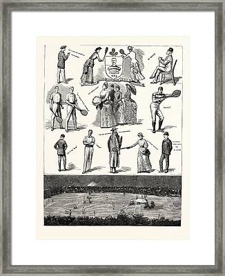 Notes At The Lawn-tennis Meeting For The Championship Framed Print by Irish School