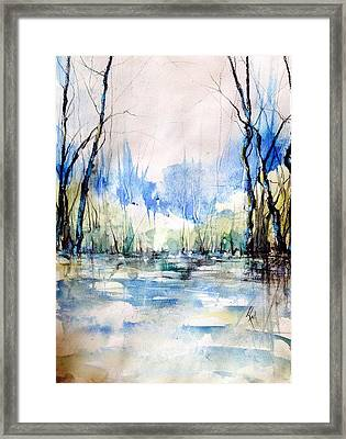 Nothing But Blue Skies...coming Our Way Framed Print by Robin Miller-Bookhout