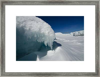 Framed Print featuring the photograph Nothing But Ice by Sandra Updyke