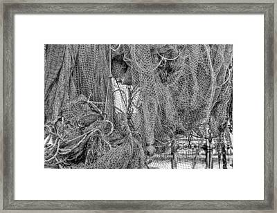 Nothing But Net Black And White Framed Print