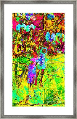 Nothing But Net The Jump Shot 20150310 Framed Print by Wingsdomain Art and Photography