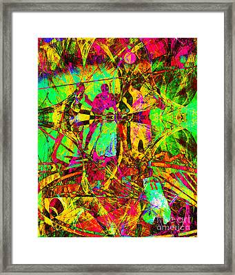 Nothing But Net The Tip Off 20150310 Framed Print by Wingsdomain Art and Photography