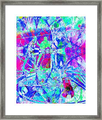 Nothing But Net The Tip Off 20150310inv Framed Print by Wingsdomain Art and Photography