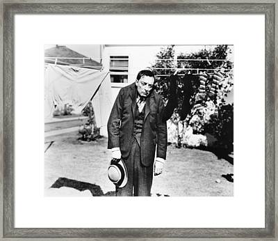 Nothing But Pleasure, Buster Keaton Framed Print