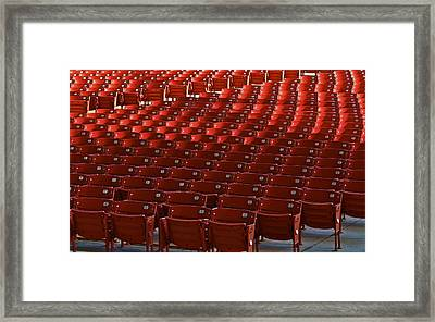 Red Rows Framed Print by John Babis