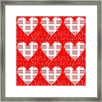 Nothing Is Better Than Love Framed Print by Helena Tiainen