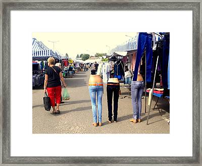 Nothing Less Than Three Graces Framed Print