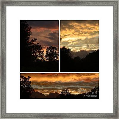 Nothing Like A Sunset  Framed Print