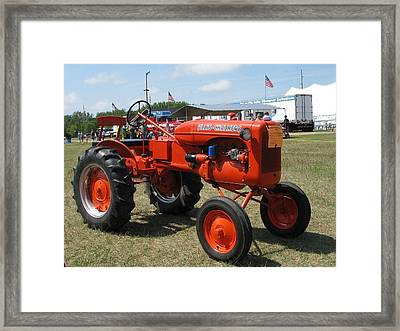Nothing Like A Tractor Show Framed Print by Victoria Sheldon