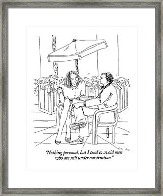 Nothing Personal Framed Print by Richard Clin