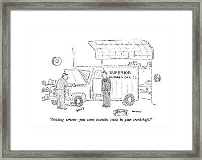 Nothing Serious  -  Just Some Twenties Stuck Framed Print