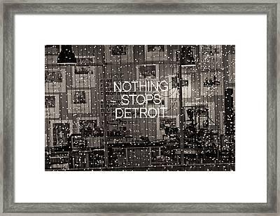 Nothing Stops Detroit  Framed Print