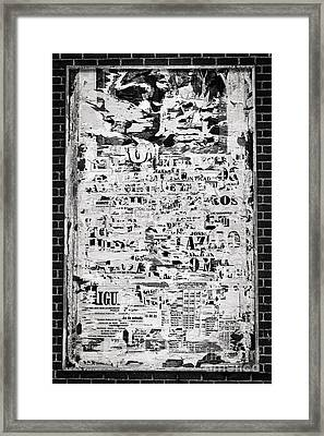 Notice Board Framed Print
