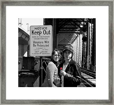 Notice Framed Print by Donnie Freeman