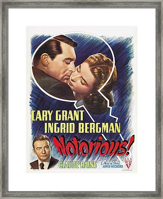 Notorious - 1946 Framed Print