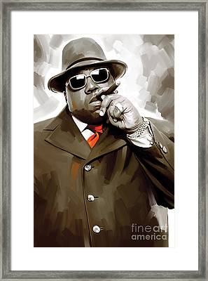 Notorious Big - Biggie Smalls Artwork 3 Framed Print by Sheraz A