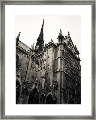 Notre Dame - For Eugene Atget Framed Print