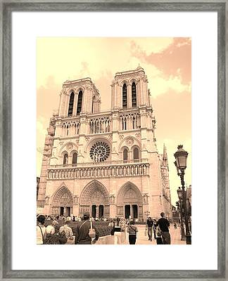 Framed Print featuring the photograph Notre Dame Cathedral by Cleaster Cotton