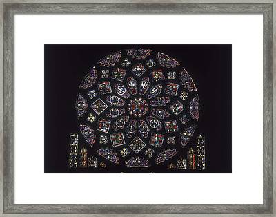 Notre-dame Cathedral Of Chartres Framed Print