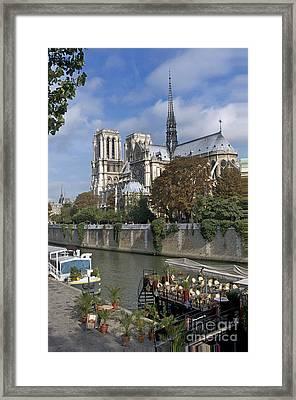 Notre Dame Cathedral. Paris Framed Print by Bernard Jaubert