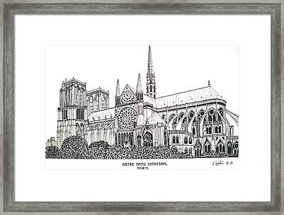 Notre Dame Cathedral - Paris Framed Print by Frederic Kohli